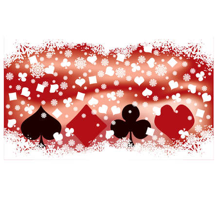 Poker winter banner, vector