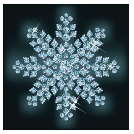 Diamond snowflake Stock Vector - 11437792