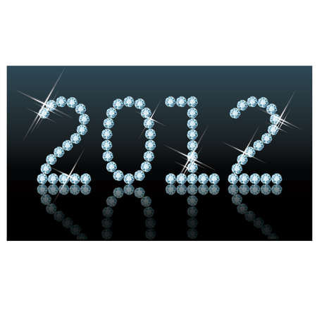 New 2012 diamond year, vector illustration Stock Vector - 11437781