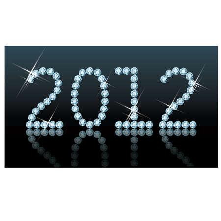 New 2012 diamond year, vector illustration Stock Vector - 11437781