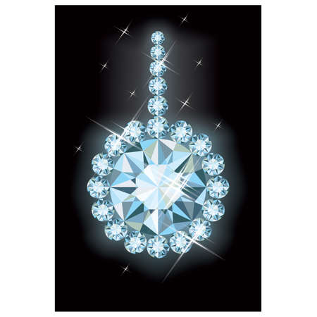 christmas beads: Diamond christmas ball , vector illustration Illustration
