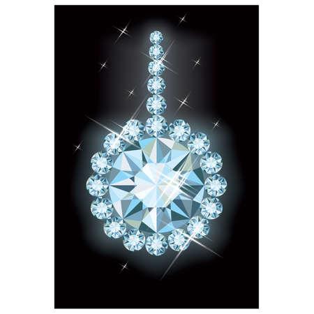 Diamond christmas ball , vector illustration Illustration
