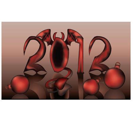 fateful: New 2012 devil year, vector
