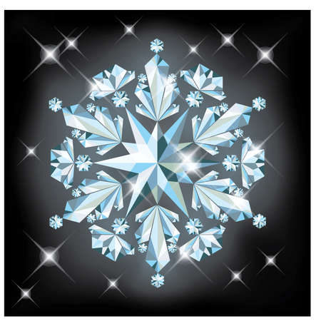 crystalline: Diamond snow, vector illustration
