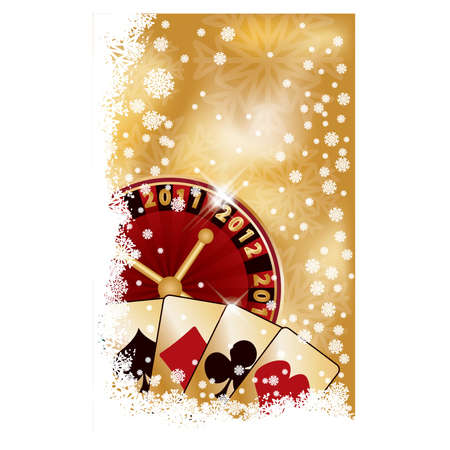 Casino New 2012 year banner, vector illustration Vector