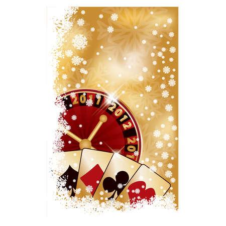 Casino New 2012 year banner, vector illustration Vector