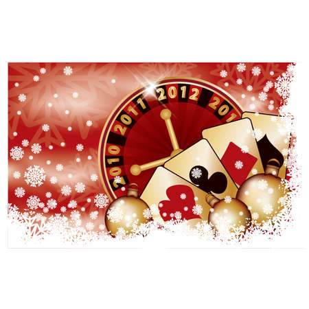 Casino Christmas banner, vector illustration Vector