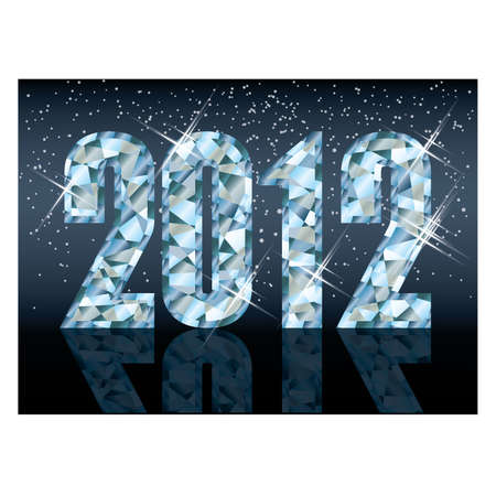 Diamond new 2012 year card , vector Stock Vector - 11437804