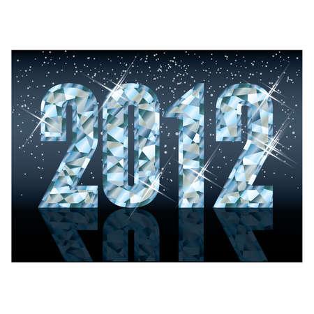 Diamond new 2012 year card , vector Stock Vector - 11437804