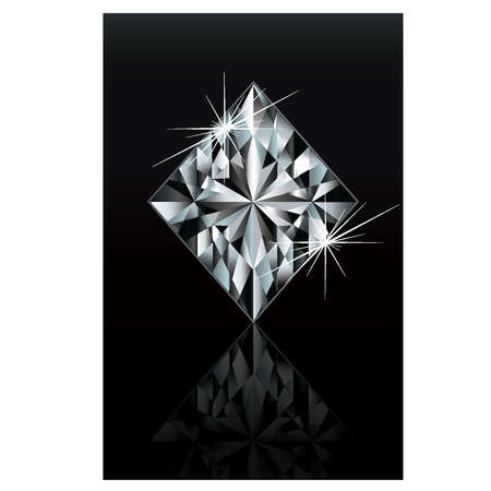 Diamond poker card sign diamonds, vector Vector