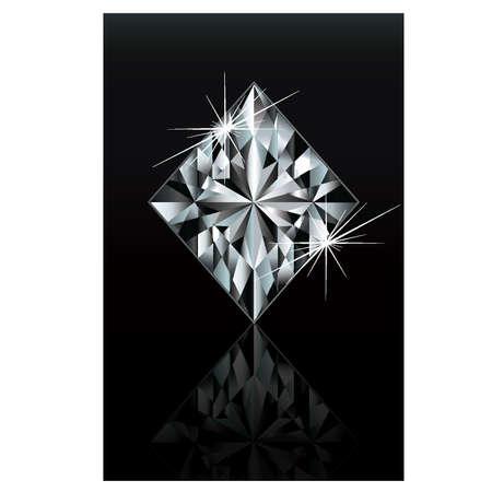 play card: Diamond poker card sign diamonds, vector