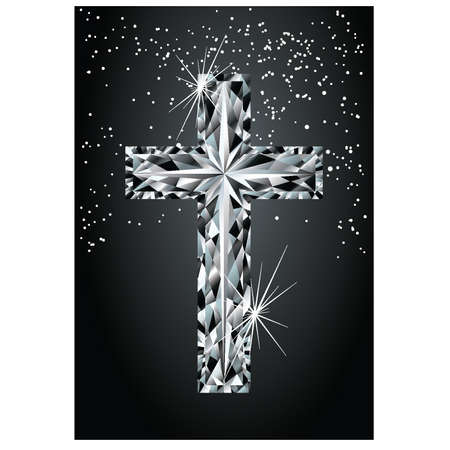 Diamond cross, illustration Vector