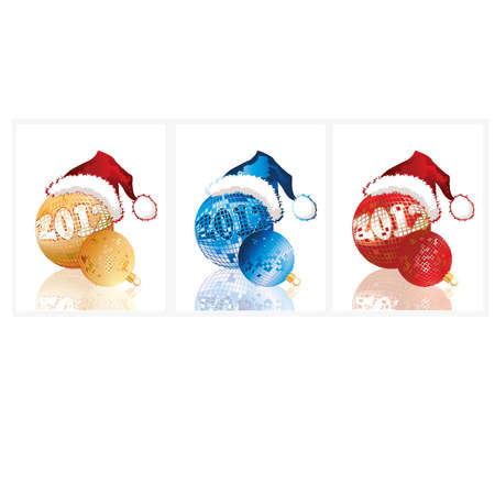 New 2012 year banners. vector illustration Vector
