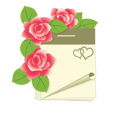 event planner: Valentines day calendar, vector illustration Illustration
