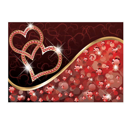 Valentine day love card, vector illustration Stock Vector - 11882528