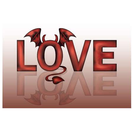 fateful: Devil love. vector illustration