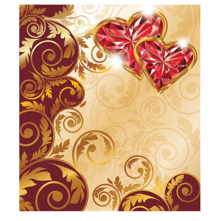 hearty: Valentines day banner, vector illustration