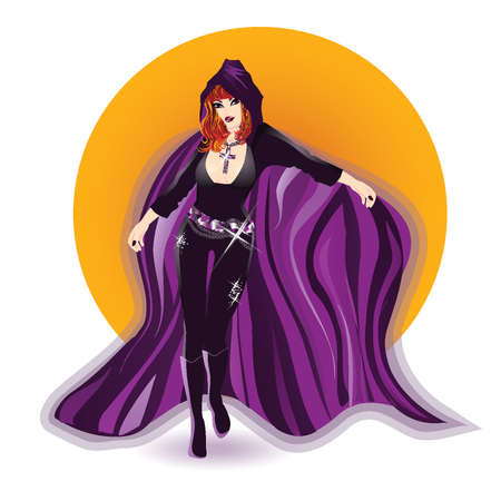 The violet queen of witches Vector