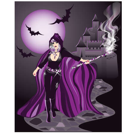 Sexy witch Stock Vector - 12075283