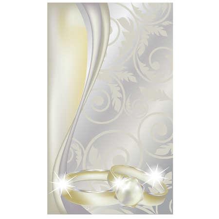 bodas de plata: Antecedentes de la boda hermoso, ilustración vectorial