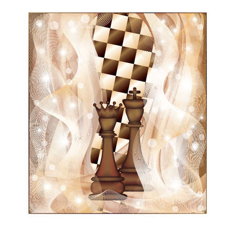 Chess background, vector Stock Vector - 12201936