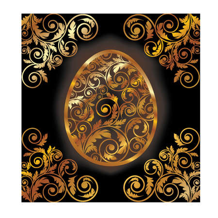 Luxury Easter card, vector illustration Vector