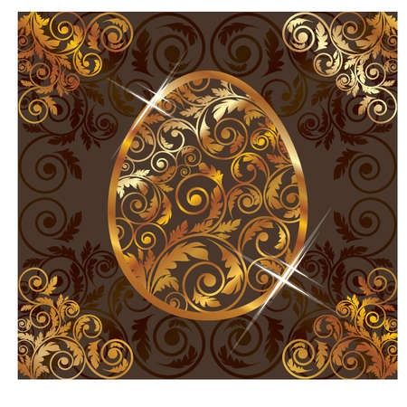 Golden easter egg, vector illustration Vector