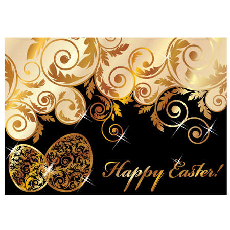 Elegant easter banner, vector illustration Vector