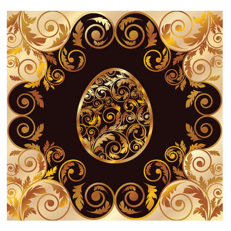 Luxury golden easter card, vector illustration Vector