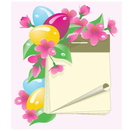 Easter calendar with eggs, vector illustration Vector