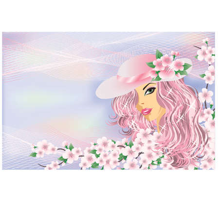Spring girl, vector Stock Vector - 12484682