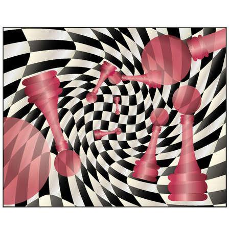 chessboard: Chess creative background, vector illustration