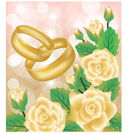 betrothal: Wedding background, vector
