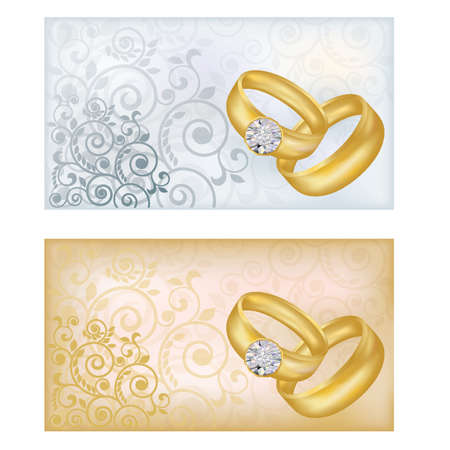 betrothal: Two wedding banners, vector illustration