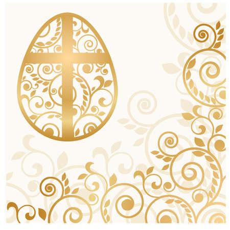 pasqua cristiana: Uovo di Pasqua della carta, illustrazione vettoriale Vettoriali