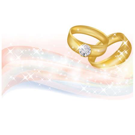 Wedding banner, vector illustratie