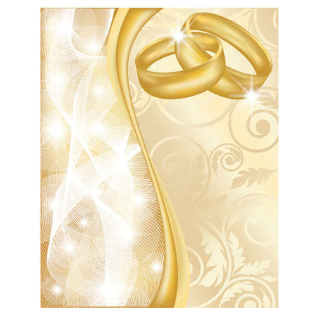 betrothal: Wedding greeting card, vector illustration