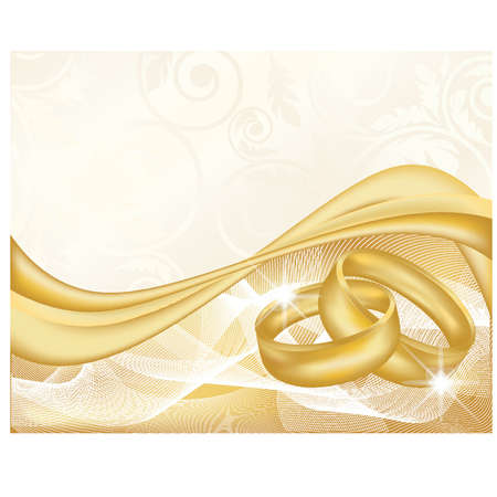 jewelery: Wedding banner, vector illustration