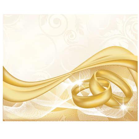 betrothal: Wedding banner, vector illustration