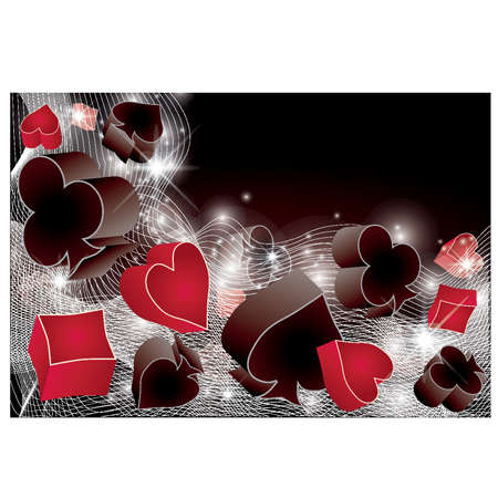 clubs diamonds: Casino background, vector illustration