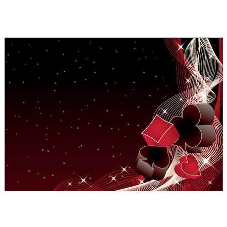 casino game: Poker background, vector illustration  Illustration