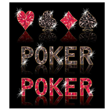 Diamond poker elements, vector illustration  Stock Vector - 12792727