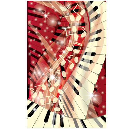 symphony orchestra: Music background, vector illustration