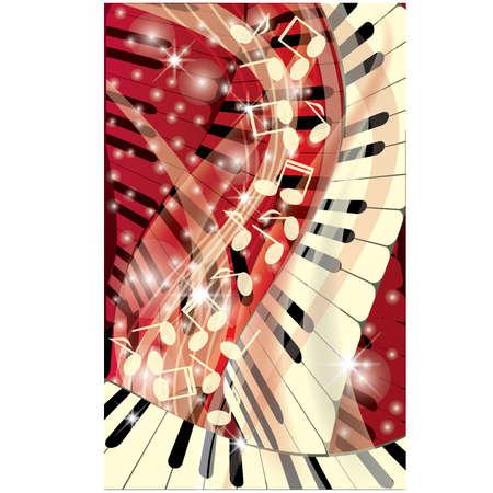 Music background, vector illustration