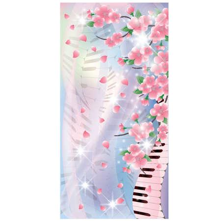 Spring Melody banner, vector illustration Illustration