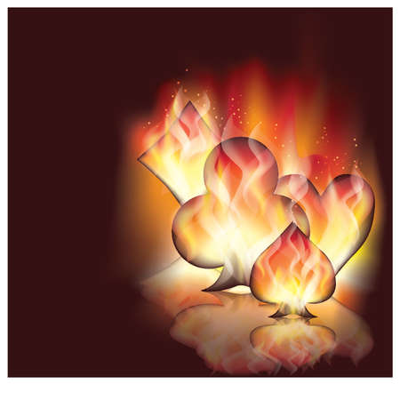 Poker fire background Vector