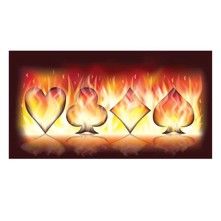 Poker fire banner Vector