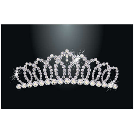 costume jewelry: Diamond princess diadem