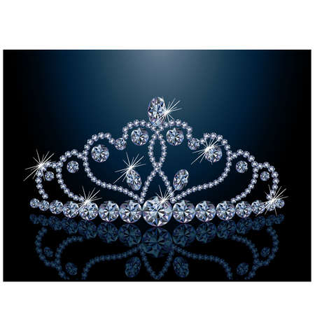 Beautiful diamond  diadem Vector