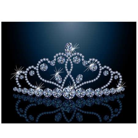 coeur diamant: Diadème de diamants Belle